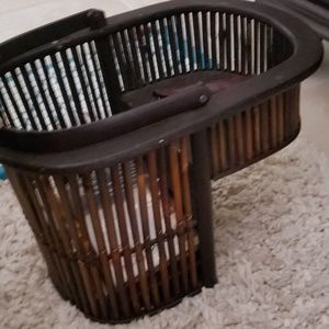 Beautiful Brown bamboo Basket for stairs